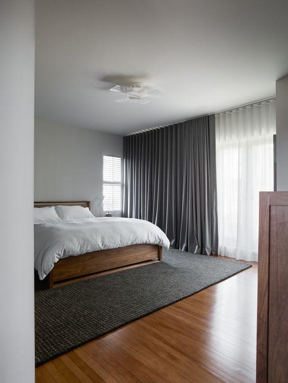 алюминиевый карниз для спальни фото